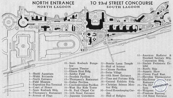 North Entrance to 23rd Street Concourse  de l'exposition de Chicago 1933