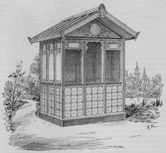Expo Paris 1889 - Petit chalet en carton