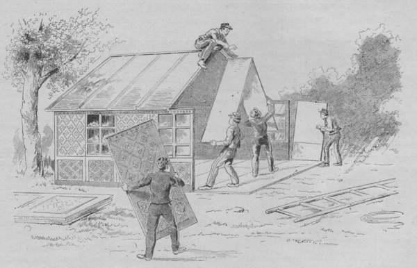 Expo Paris 1889 - Le montage d une ambulance mobile