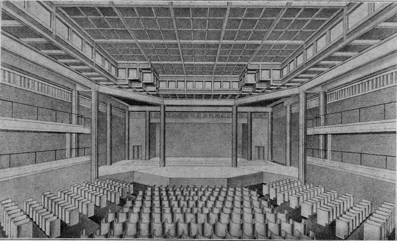 Expo Paris 1925 - La scène et l orchestre du théâtre
