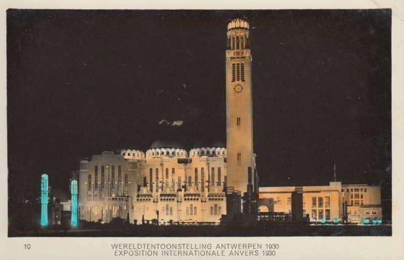 Expo Antwerpen 1930 - Carte postale - Temple de l Art Flamand - Tempel der Vlaamsche Kunst