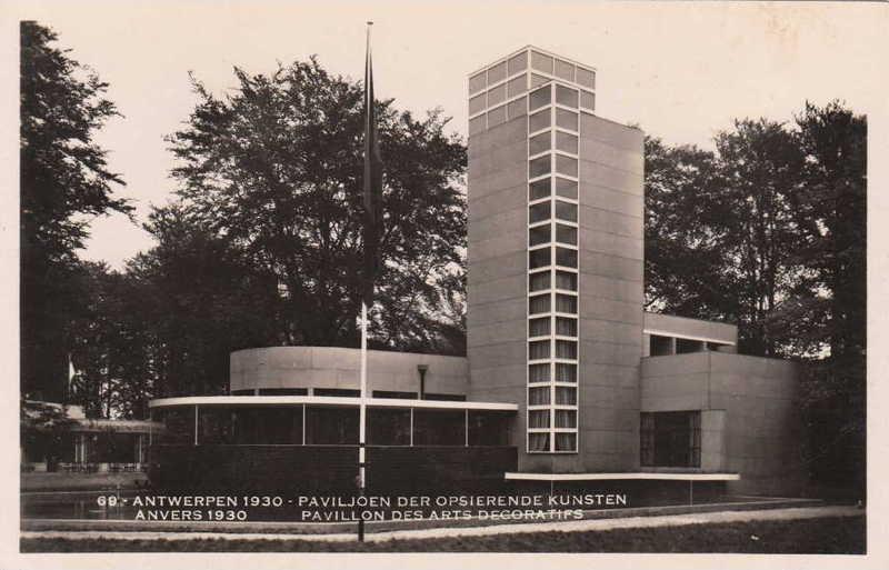 Expo Antwerpen 1930 - Carte postale - Pavillon des Arts Décoratifs - Paviljoen Opsierende Kunsten