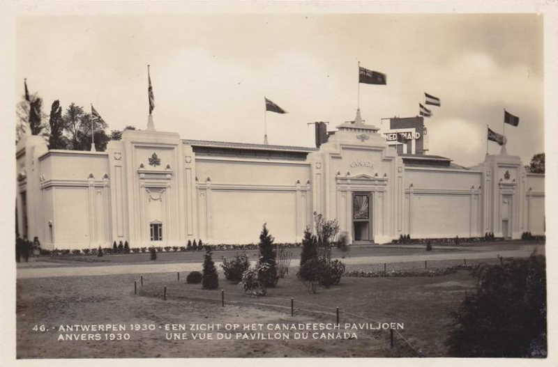 Expo Antwerpen 1930 - Carte postale - Pavillon du Canada - Paviljoen van Canada