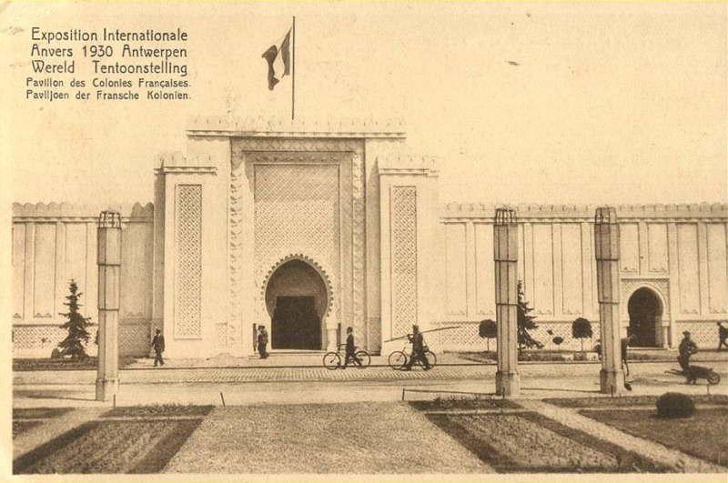 Expo Antwerpen 1930 - Carte postale - Pavillon Colonies Françaises - Paviljoen Fransche koloniën