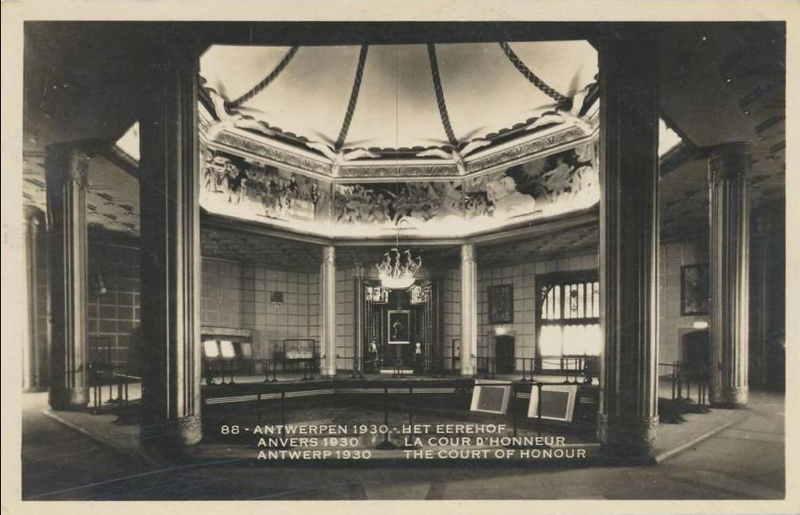 Expo Antwerpen 1930 - Carte postale - Court d honneur - Het Eerehof
