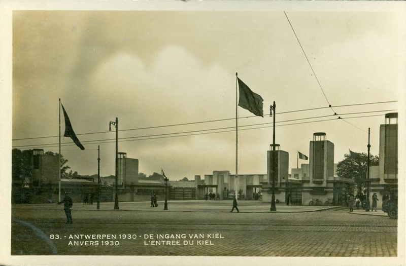 Expo Antwerpen 1930 - Carte postale - Entrée de Kiel - Ingang van Kiel