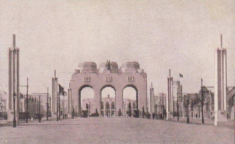 Expo Antwerpen 1930 - Carte postale - Entrée principale - Hoofdingang