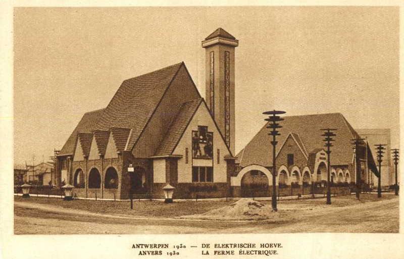 Expo Antwerpen 1930 - Carte postale - Ferme Electrique - Elektrische Hoeve