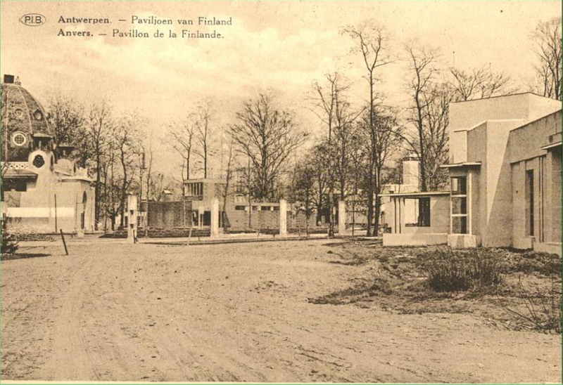 Expo Antwerpen 1930 - Carte postale - Pavillon de la Finlande - Paviljoen van Finland