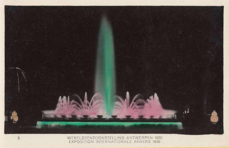 Expo Antwerpen 1930 - Carte postale - Fontaine - Fontein