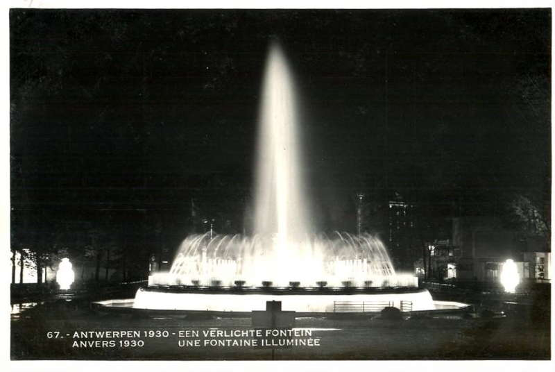 Expo Antwerpen 1930 - Carte postale - Fontaine - Fontein