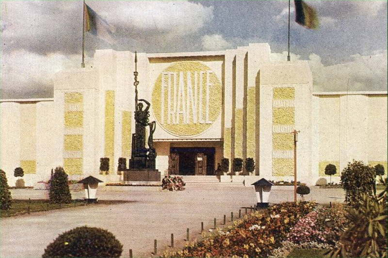 Expo Antwerpen 1930 - Carte postale - Pavillon de la France - Fransch Paviljoen