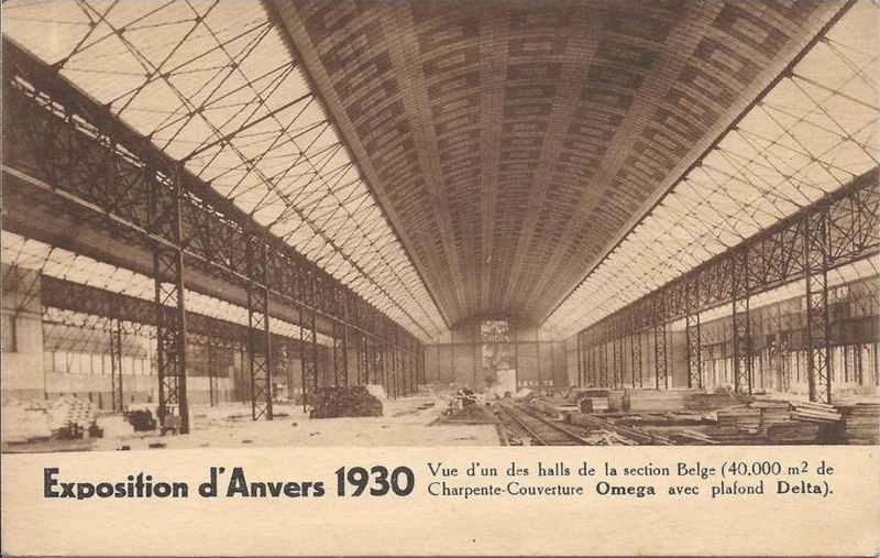 Expo Antwerpen 1930 - Carte postale - Halls Belges - Belgische Galerijen