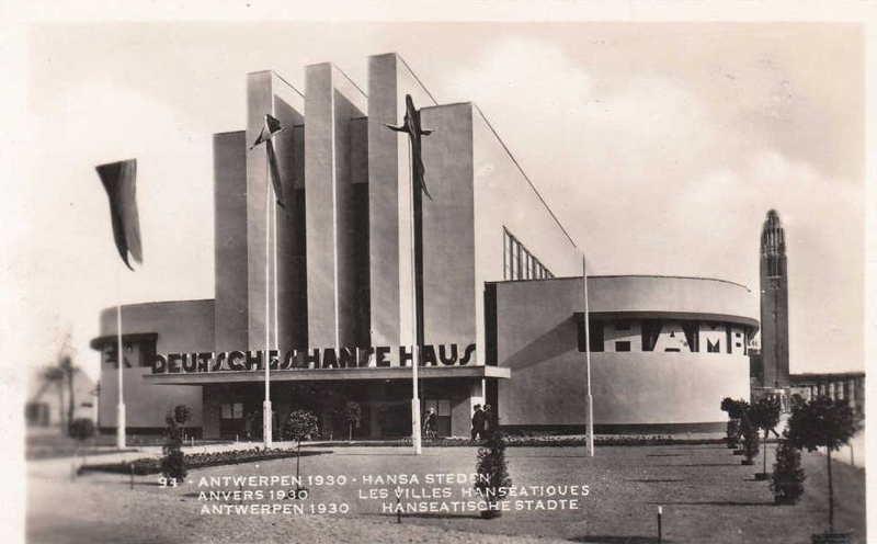 Expo Antwerpen 1930 - Carte postale - Villes Hanséatiques - Hansa Steden