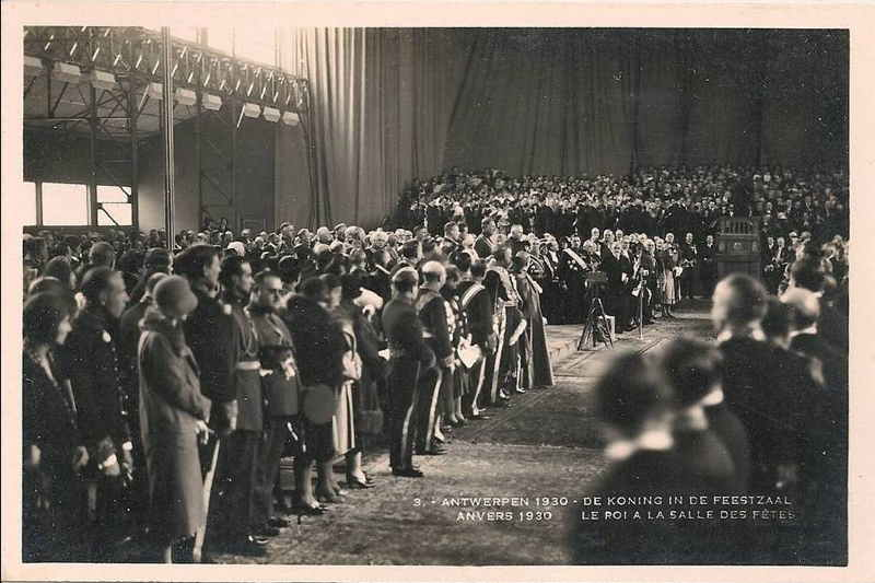 Expo Antwerpen 1930 - Carte postale - Inauguration