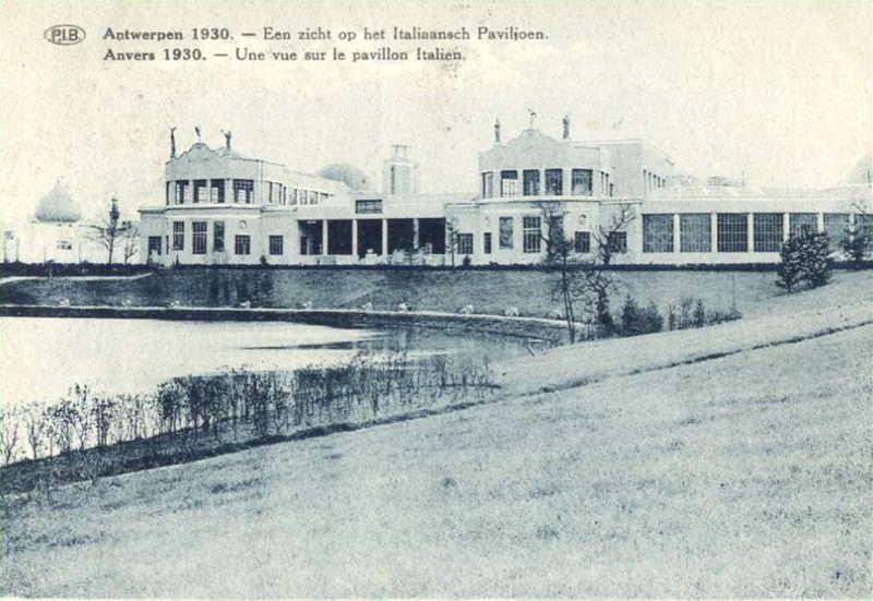 Expo Antwerpen 1930 - Carte postale - Pavillon Italien - Italiaanasch Paviljoen