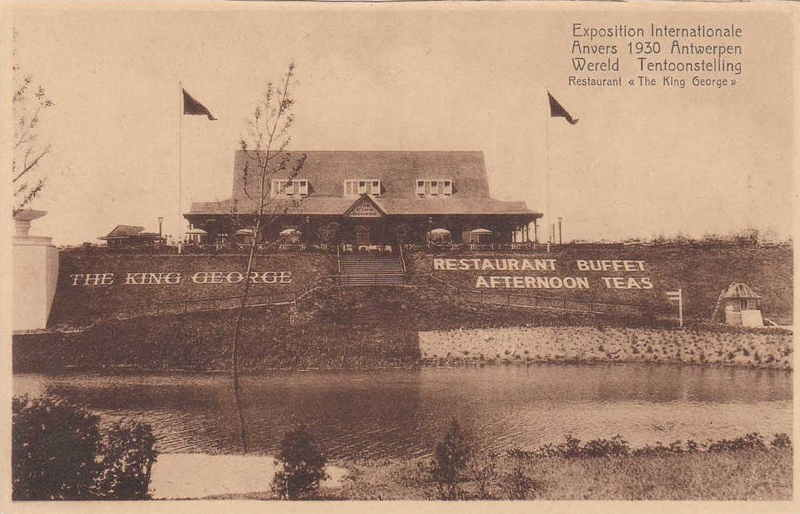 Expo Antwerpen 1930 - Carte postale - Restaurant King George