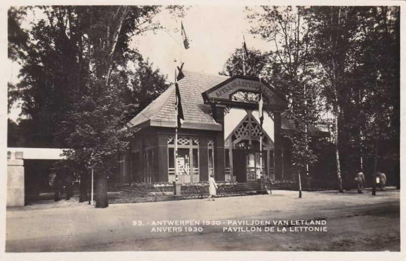 Expo Antwerpen 1930 - Carte postale - Pavillon de la Lettonie - Paviljoen van Lettonie