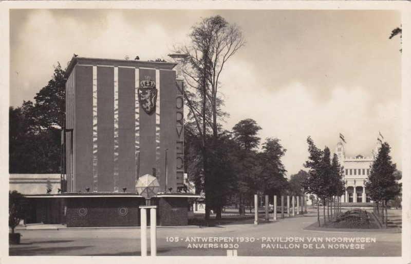 Expo Antwerpen 1930 - Carte postale - Pavillon de la Norvège - Paviljoen van Noorwegen