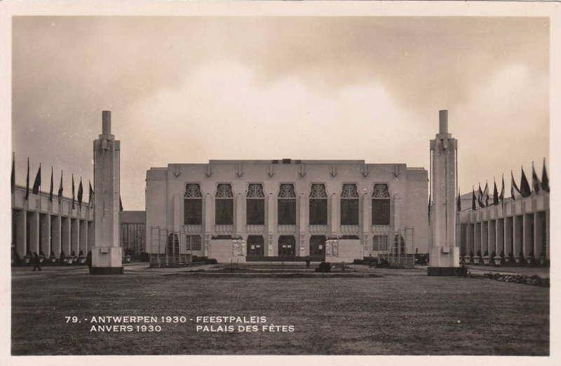 Expo Antwerpen 1930 - Carte postale - Palais des Fêtes - Feestpaleis
