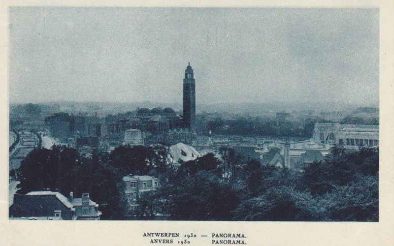 Expo Antwerpen 1930 - Carte postale - Panorama