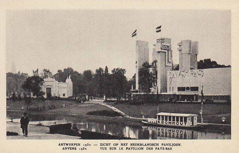 Expo Antwerpen 1930 - Carte postale - Pavillon des Pays-Bas - Nederlandsch paviljoen