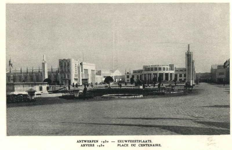 Expo Antwerpen 1930 - Carte postale - Place du Centenaire - Eeuwfeestplaats
