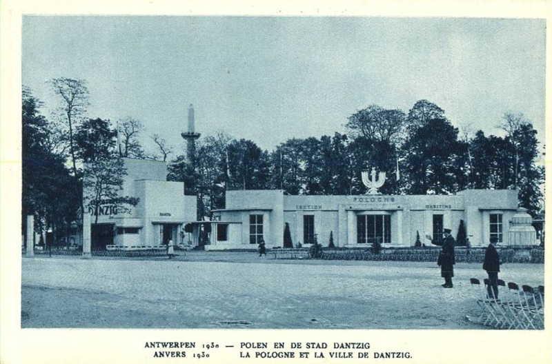 Expo Antwerpen 1930 - Carte postale - Pavillon Pologne Ville Dantzig - Paviljoen Polen Stad Dantzig