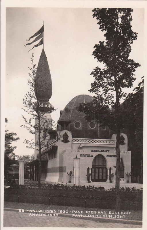 Expo Antwerpen 1930 - Carte postale - Pavillon du Sunlight - Paviljoen van Sunlight