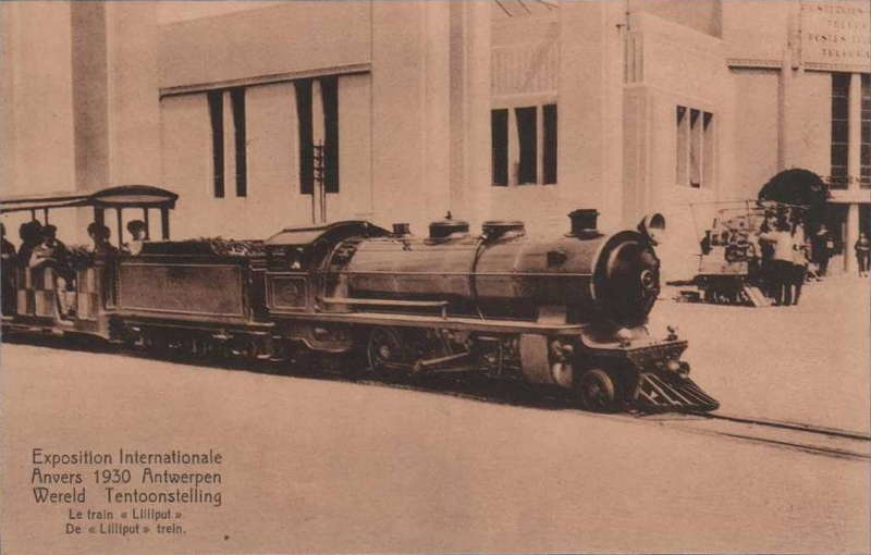 Expo Antwerpen 1930 - Carte postale - Train Liliput - Lilliput trein