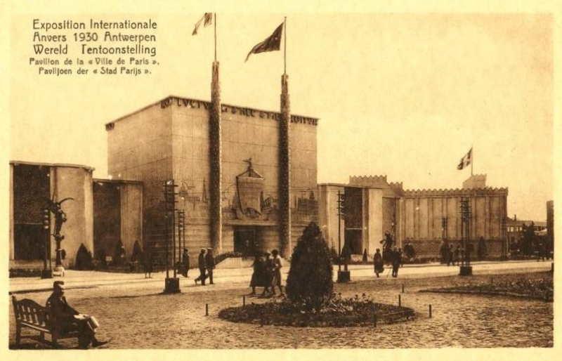 Expo Antwerpen 1930 - Carte postale - Pavillon de la Ville de Paris - Paviljoen van de stad Parijs