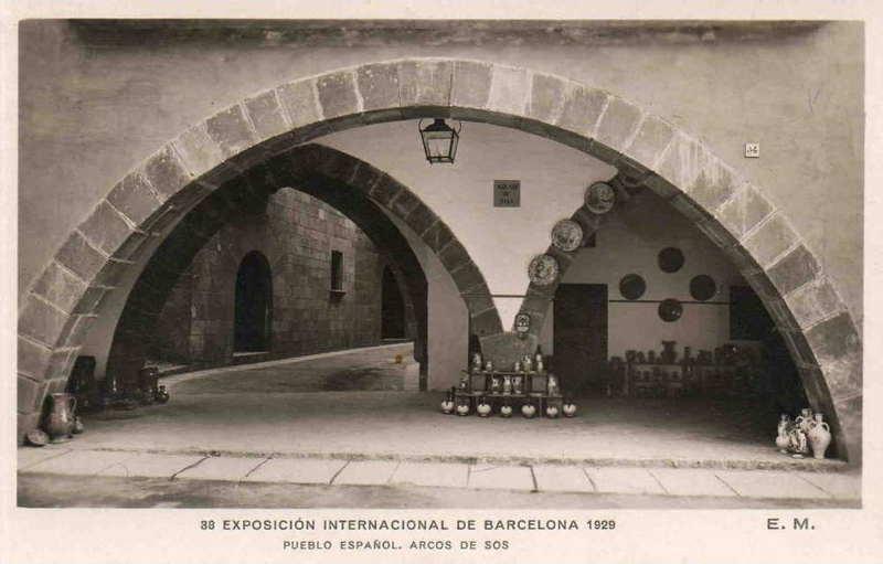 Expo Barcelona 1929 - El Pueblo Espanol - Arcos de Sos
