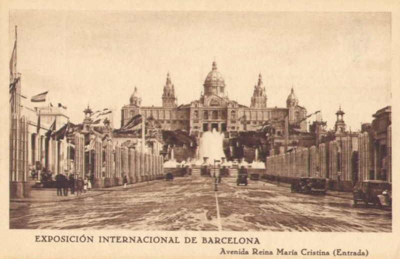 Expo Barcelona 1929 - Avenida Reina Maria Cristina