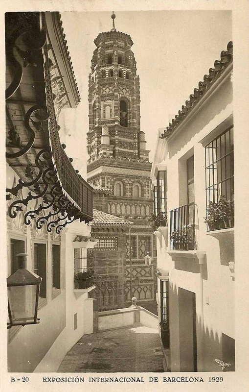 Expo Barcelona 1929 -El Pueblo Espanol - Calle Bulas