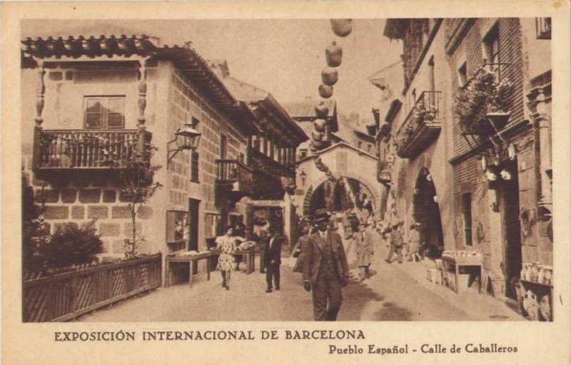 Expo Barcelona 1929 -El Pueblo Espanol - Calle de Caballeros