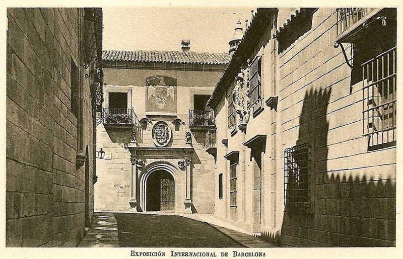 Expo Barcelona 1929 -El Pueblo Espanol - Calle de la Conquista