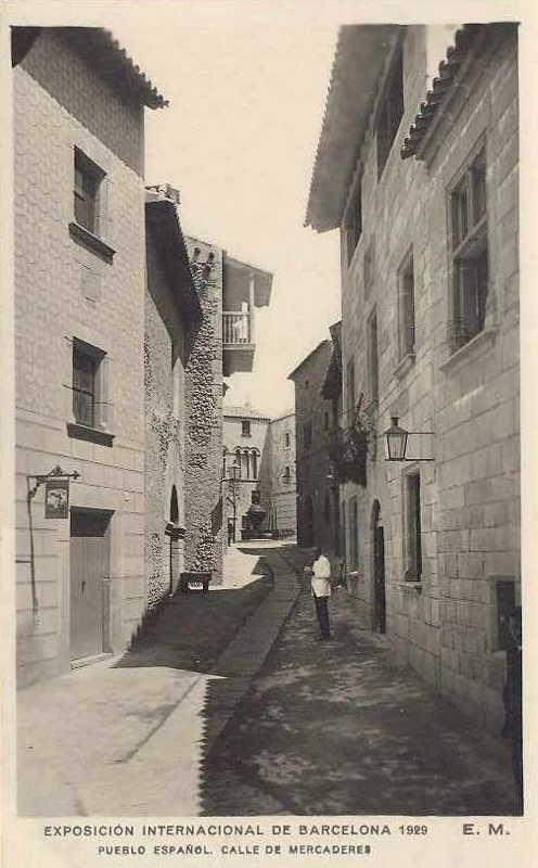 Expo Barcelona 1929 -El Pueblo Espanol - Calle de Mercederes