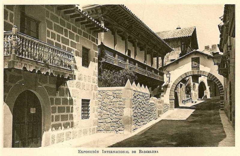 Expo Barcelona 1929 -El Pueblo Espanol - Calle de Principe de Viana