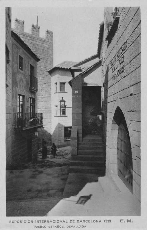 Expo Barcelona 1929 - El Pueblo Espanol - Calle de Devallada