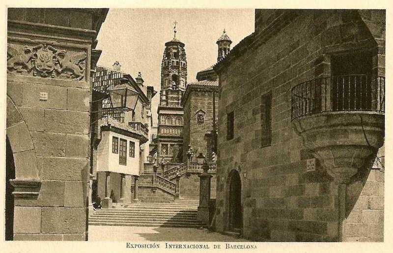 Expo Barcelona 1929 - El Pueblo Espanol - Gradas de Santiago