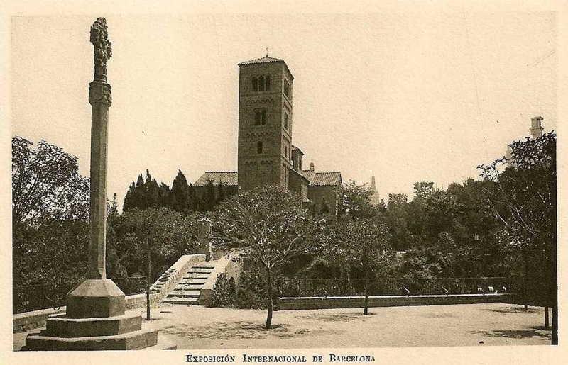 Expo Barcelona 1929 - El Pueblo Espanol - Monasterio Romanico