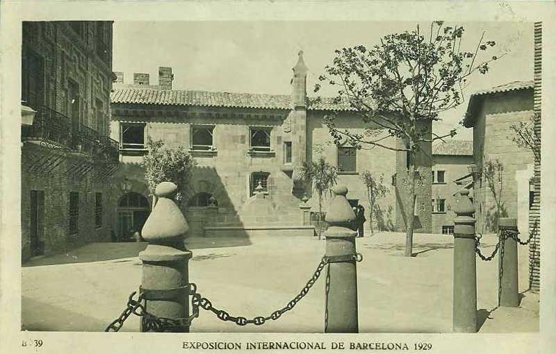 Expo Barcelona 1929 - El Pueblo Espanol - Plaza Aragonesa