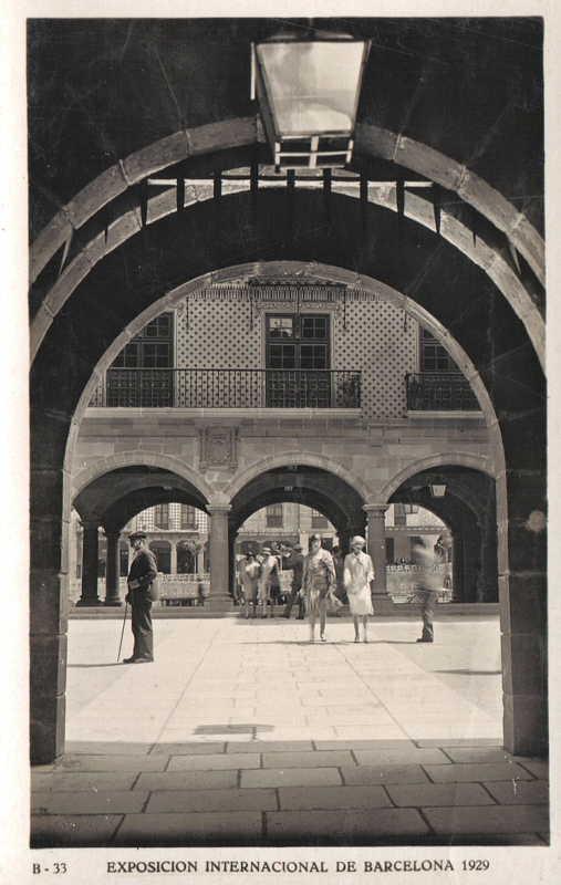 Expo Barcelona 1929 - El Pueblo Espanol - Plaza Castellana