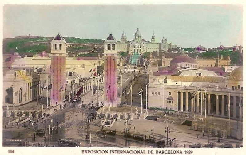 Expo Barcelona 1929 - Plaza de Espana