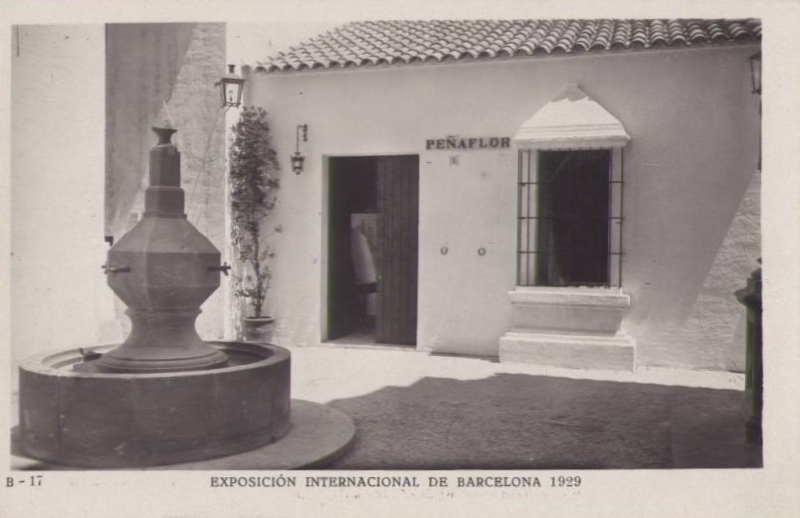 Expo Barcelona 1929 - El Pueblo Espanol - Plaza de Penaflor