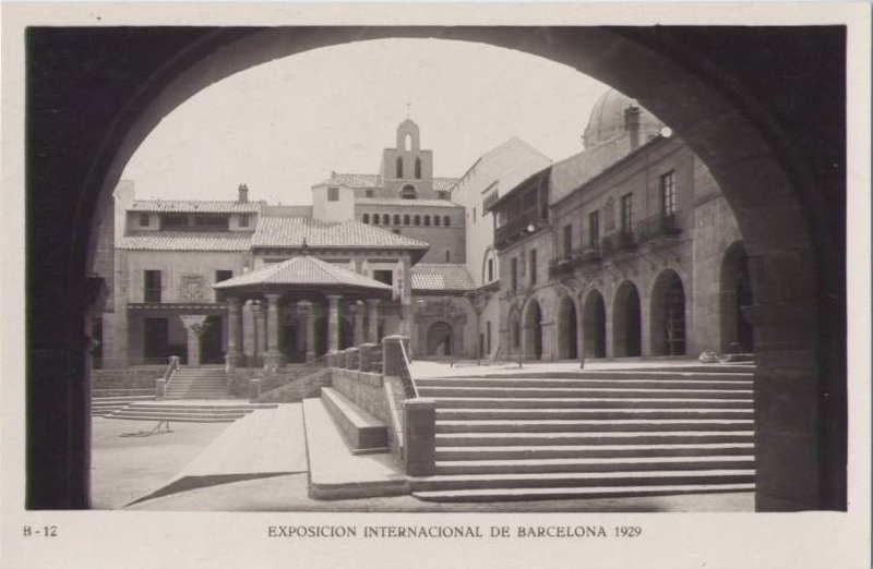 Expo Barcelona 1929 - El Pueblo Espanol - Plaza Mayor
