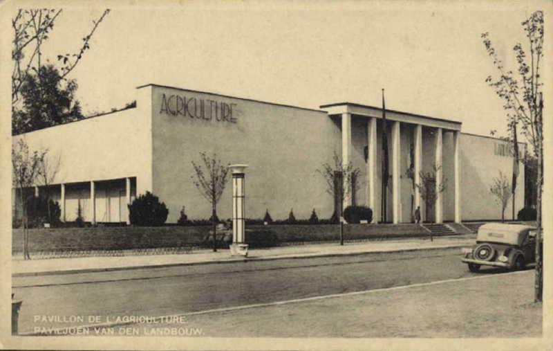 Expo Bruxelles 1935 - Carte postale - Pavillon de l Agriculture - Paviljoen van den Landbouw