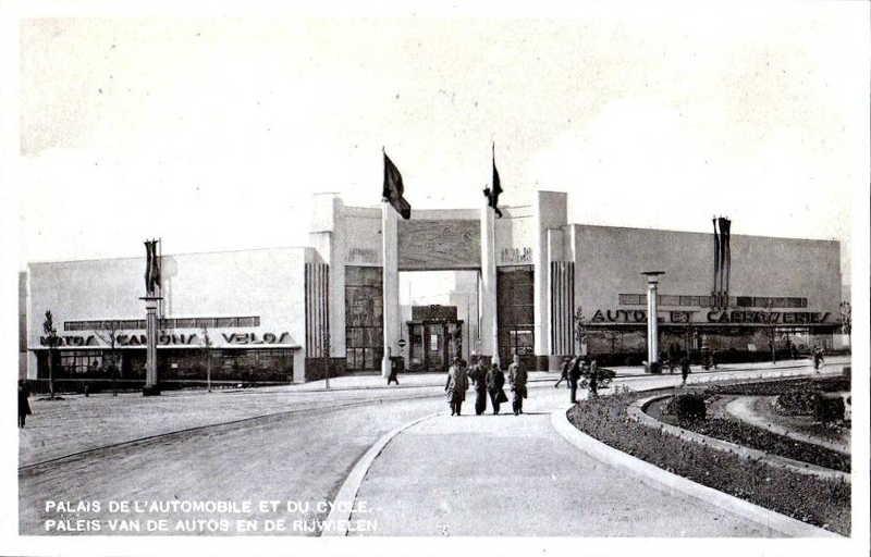 Expo Bruxelles 1935 - Carte postale - Palais de l Automobile et du Cycle