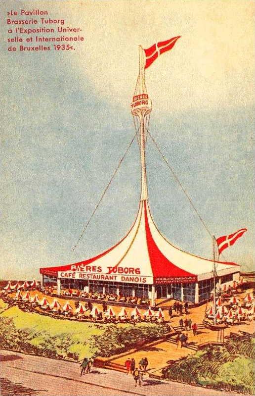 Expo Bruxelles 1935 - Carte postale - Brasserie Tuborg