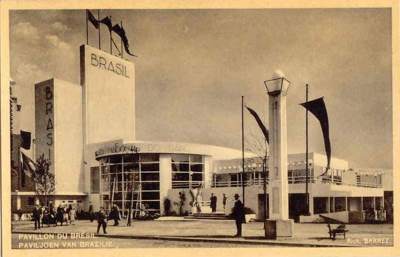 Expo Bruxelles 1935 - Carte postale - Pavillon du Bresil - Paviljoen van Brazilie